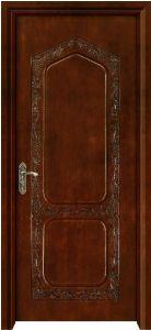 100% Solid Teak Wood Door Solid Wooden Door (D2-02)