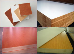 MDF Faced Melamine Paper pictures & photos