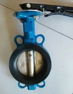 Cast Iron Wafer Type Butterfly Valve with Handle Operate D71f-150lb pictures & photos
