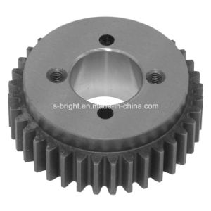 Black Oxide Steel Motor Helical Pinion Gears Made in China pictures & photos