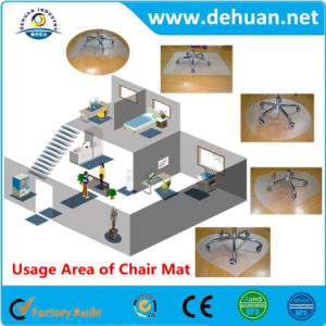 PVC Chair Mat for Plush Pile Carpets More Than 0.1 Inch Thick Clear 47 X 35 Inches Rectangular pictures & photos