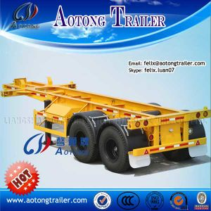 Container Flatbed Semi Trailer (LAT9350TJZG) pictures & photos