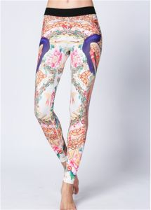 2017 Peacock Printing Leggings Yoga Sports Women Pants pictures & photos