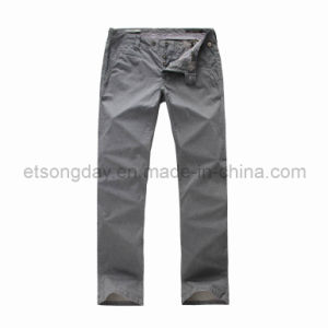 Gray Printed 100% Cotton Men′s Trousers (APC48) pictures & photos