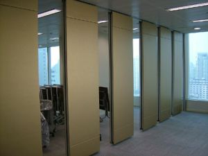 China Acoustic Interior Decorative Folding Screen Wooden Partition Wall for Library