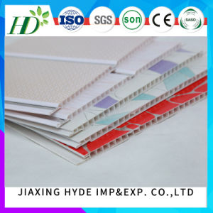2016 Manufacturer Supply Hot Stamping Wooden Color PVC Panel Home Ceiling and Wall Building Decoration Material pictures & photos