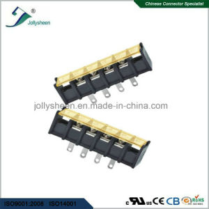 4pin Barrier Terminal Blocks Straight Type Terminal with Hole and Clear PC Safety Cover pictures & photos