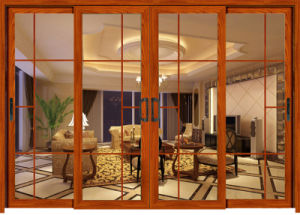Apartment Building Style Alumininum Double Tempered Glass Sliding Door pictures & photos