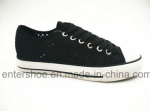 Black Color Lace up Lady Shoes (ET-YH160108W)