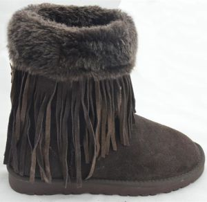 Lady Genuine Leather Warm Snow Boots (FB-80510) pictures & photos