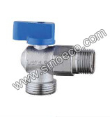 Brass Reduced Male Angle Gas Ball Valve with Aluminum Handle pictures & photos
