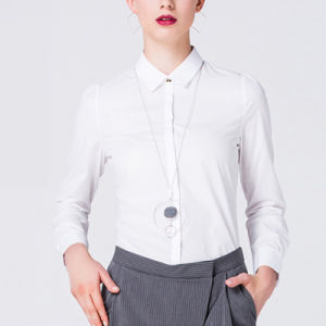 Formal Shirts Pattern Custom Design Long Sleeve Ladies Office Shirt pictures & photos