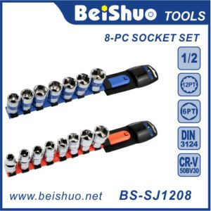 8-PC Drive 1/2-Inch Socket Set with Plastic Hanger pictures & photos