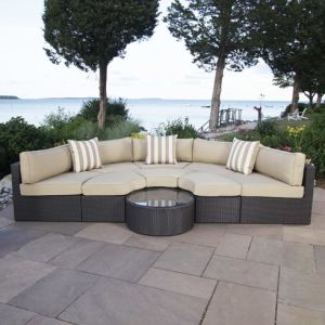 Well Furnir Rattan 9 Piece Seating Group with Cushions WF-17002 pictures & photos