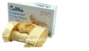 Printed Biodegradable Nappy Diaper Sacks on a Roll pictures & photos