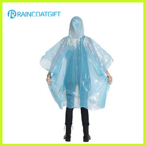 Lightweight Clear PE Disposbale Rain Poncho pictures & photos