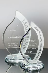 Optic Crystal Golf Award for Corporate Employee Recognition Trophy (#5756) pictures & photos