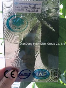 Bronze Mayflower Patterned Glass with Ce, ISO (3-8mm)