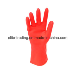 Red Latex Household Gloves
