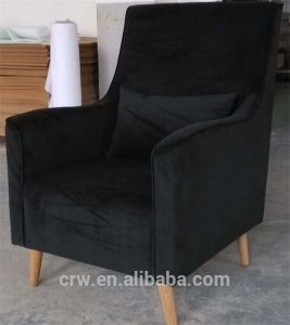 Rch-4240 Home Furniture Black Floking Sofa Set pictures & photos