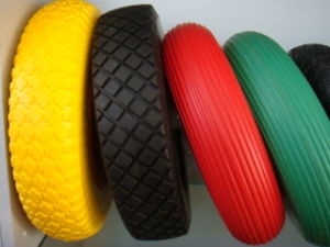 Solid PU Foam Wheel 350-8 for Wheelbarrow pictures & photos