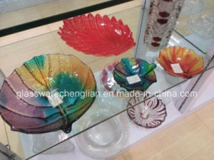 Various Designs of Glass Plate (P-035) pictures & photos
