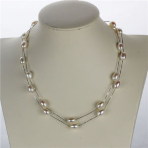 Snh 36inches Long White Freshwater Women Pearl Necklace