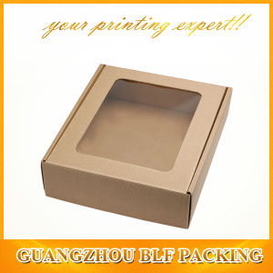 Paper Box with Clear Plastic Cover Window pictures & photos