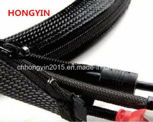 Zipper Braided Expandable Sleeving Cable Wrap pictures & photos