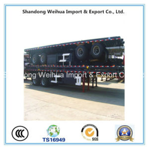 Container Flatbed Trailer for Shipping 20FT Container pictures & photos