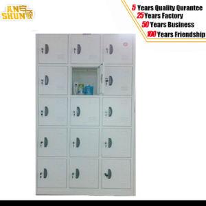 Grey Color 15-Door Metal Locker pictures & photos