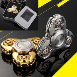 Metal Alloy Tri Spinner EDC Spin Fidgets Anti Stress Sensory Metal Finger Spinner Hand Spinner Reduce Pressuse pictures & photos