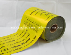 "6"" Aluminium Foil Detectable Warning Tape Yellow Printing pictures & photos"