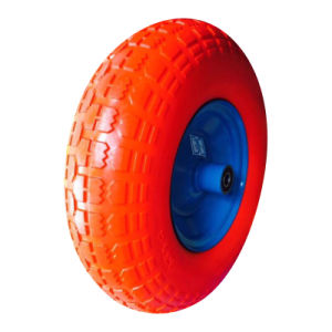 "8""X2.50-4 Polyurethane Rubber Trolley Wheel pictures & photos"