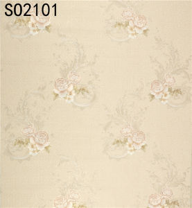 Hot Sell PVC Wallpaper (Size: 106cm*10m / 15.6m) pictures & photos