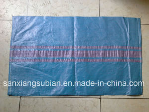 PP Woven Bag Blue with Red Strip for Poland pictures & photos