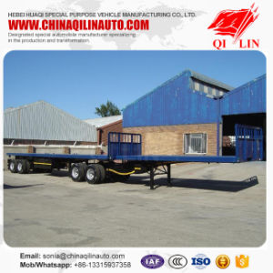 Two Axles Superlink Truck Flatbed Semi Trailer pictures & photos