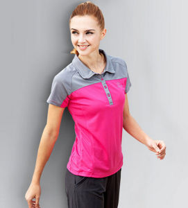 Best Sale Breathable Dry Fit Mixed Colors Embroidered Women′s Polo Shirt pictures & photos