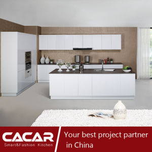 Time of Paris Romantic White Piano Stoving Varnish Kitchen Cabinet (CACA20-02) pictures & photos