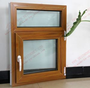 Superior Quality Woodgrain Plastic Casement Window (BHP-CW08) pictures & photos