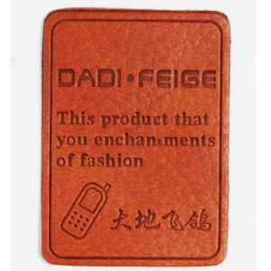 Self Adhesive Clothing Label Leather Patch for Jeans pictures & photos