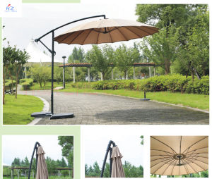 Hz-Um68 300-24/18-48mm Fiber Glass Hanging Umbrella 10ft Fiber Glass Parasol with Crank-Garden Parasol Banana Umbrella Outdoor Umbrella Garden Umbrella pictures & photos