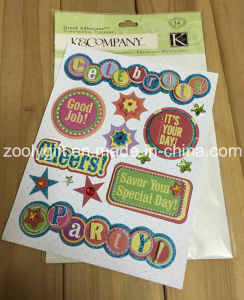 Handmade Paper Die-Cut Craft Scrapbooking Embellishments Glitter Adhesive Dimensional Stickers pictures & photos
