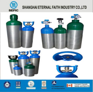 2L Small Portable Oxygen Aluminum Gas Cylinder pictures & photos
