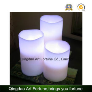 Flameless Real Wax LED Candle with Waved Top pictures & photos