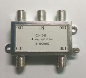 4way CATV Splitter 5-1000MHz (SHJ-03104S) pictures & photos
