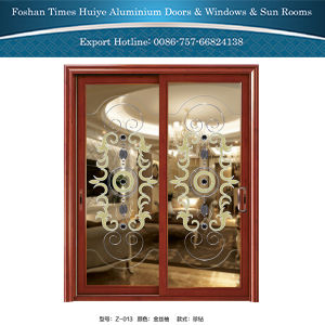1.0mm~2.0mm Aluminum Hanging Door with Wooden Color pictures & photos