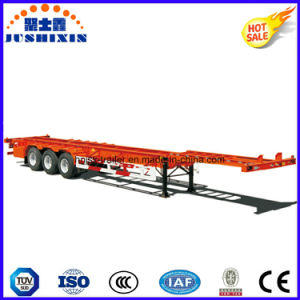 45FT Skeletal Container Transport Semi Trailer, Container Chassis Truck Trailer with Small Gooseneck pictures & photos