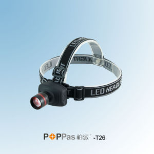 Zoom Adjustable Aluminum CREE Xr-E Q5 LED Headlamp (POPPAS- T26) pictures & photos