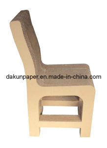 Natural Cardboard Back Rest Chair-DKPF100411